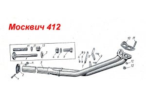 Laying of the receiving pipe Moskvich-412, Moskvich-2140, IZH-Moskvich
