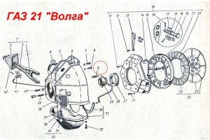 Spring retraction release bearing GAZ, RAF, UAZ