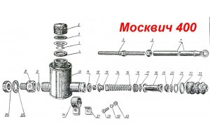 The main brake cylinder Moskvich-400, Moskvich-401
