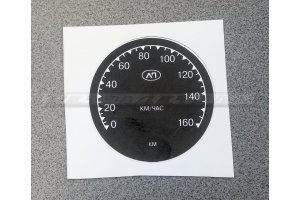 The sticker on the speedometer brand AP for motorcycles IZH-49,  IZH-350,  IZH-56, M-72