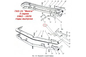 Mounts bumpers GAZ-21