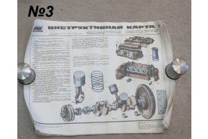 Posters for maintenance of cars ZIL-131, KAMAZ-4310, 1989