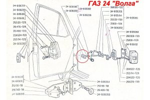 GAZ-24 door stop buffer