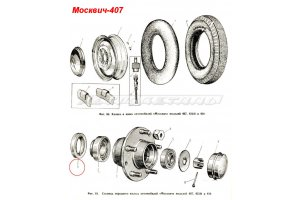 Seals wheel hubs Moskvich