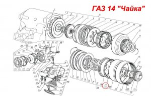 Cuff sealing piston of management of automatic transmission for GAZ-13, GAZ-14