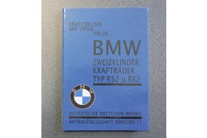BMW R52 and R62 motorcycle spare parts catalog, in German