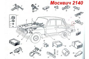 The plug of a bunch of wires 400-3724052 for cars the Moskvich