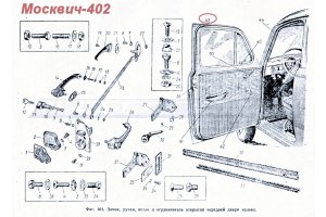 Door seals around the perimeter Moskvich-402, Moskvich-407, Moskvich-403