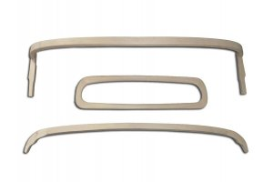Set of rear wooden frame elements for awning frame for Moskvich 400-420 A