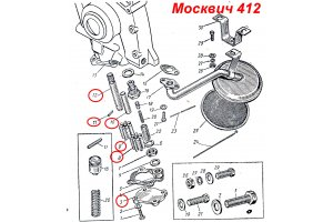 Repair kit for oil pump Moskvich-412, Moskvich-2140, IZH-Moskvich