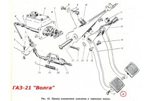 GAZ-21 brake and clutch pedal pad