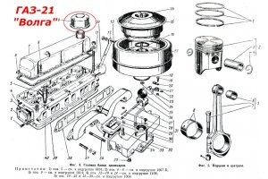 Filter ventilation crankcase GAZ-21