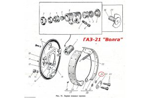 Clown brake shoes GAZ passenger, UAZ