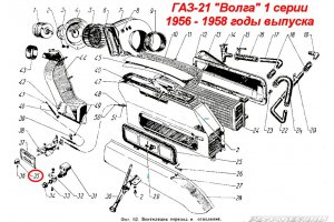 Handles of air ducts GAZ-21