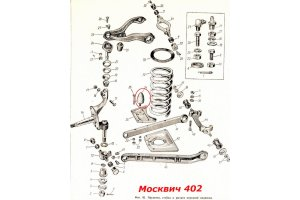 Buffer front suspension Moskvich