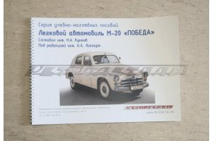 A series of educational and visual aids Passenger car M-20 Victory, 1949