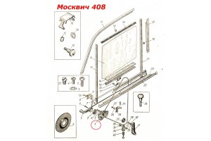 The mechanism of windows Moskvich, RAF