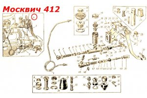 Clutch master cylinder Moskvich-408, Moskvich-412, Moskvich-2140