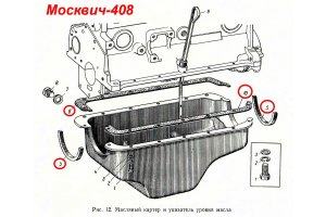 Pad gaskets Moskvich-408