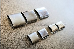 Locks for chrome on the front and rear glass GAZ-21