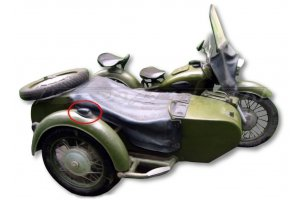The diffuser of a sidelight of PF200 for a carriage of the K-750 motorcycle