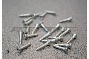 Self-tapping screw with half-head