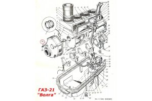 Gasket cover distribution gears GAZ-21