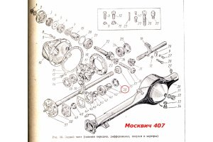 Seals rear axle and cardan transmission Moskvich
