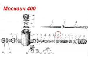 Cuff of the piston of the main brake cylinder Moskvich-400, Moskvich-401