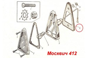 Laying the taillights direction indicators Moskvich-412