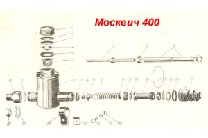 Cuff external piston of the Main Cylinder of the Brake Moskvich-400, Moskvich-401
